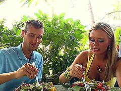 Bree Olson gets the hole between her legs pounded by dudes hard man meat