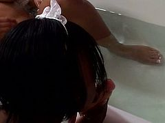 Ebony lesbian sluts pussy encounter in the shower as they enjoy those fingers and wet tongues for one naughty bath.
