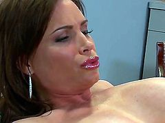 Chris Johnson plays hide the salamy with Diamond Foxxx in anal action