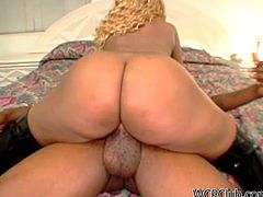 Well, this bitch presented in WCP Club sex clip is far from being a beauty queen. Horn-mad bitch with blond hair can still mesmerize a man with her huge ass. Wondrous dick rider in high black boots desires to get her twat banged from behind tough to reach multiple orgasm.