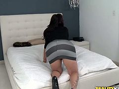 The girl is an experienced seductress. She knows what she wants and does a great job of getting it. She seduces her best friend's boyfriend with her well-shaped ass to fuck her nice and slow.