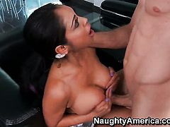 Jordan Ash is horny and cant wait any longer to drill Priya Anjali Rai with gigantic hooters