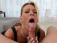 Slutty Milf Sucks On A Big Fat Cock