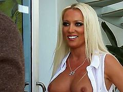 Well-endowed babe Diana Doll gets ploughed in her love hole by Keiran Lee