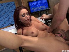 Monique Alexander is a super hot brunette milf with nice round ass and tight holes. She enjoys hardcore pounding in her butt and can't get enough!