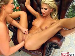 Clara G and Mandy Bright are two slutty blonde belles ready to fist each other's pussies into breathtaking explosions of orgasmic pleasure.