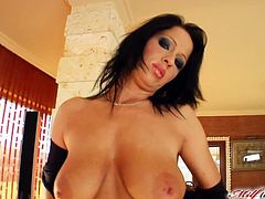 Andrea is one hot milf. She has all her nasty holes filled with cock and her mouth gets a little extra.