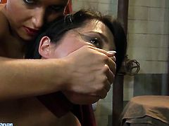Blonde Adelaida and Kathia Nobili have a lot of sexual energy to spend in girl-on-girl action