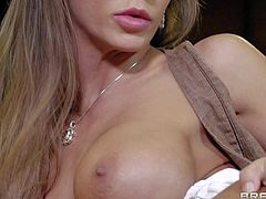 Madison Ivy is a breathtakingly sexy office babe with huge perfect tits and long legs. She shows her love for hard sex to lucky hard cocked dude at the end of the day. Watch busty woman take his dick in her fuck hole.