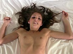 Cutie teen Lola lays on her back and offers up her pussy for a hot virtual fuck talking dirty to get you so turned on, you really feel your dick pounding her hot twat.