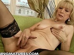 Watch a vicious and unstoppable blonde mature wearing black stocking while a young and hot redhead drills her pussy with a bat. Then it's time for her cooch to be fisted into a breathtaking orgasm. Then see what happens when she brings out her speculum!