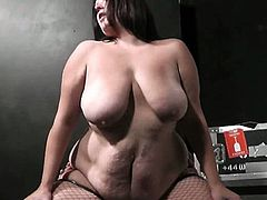 Watch a horny BBW riding her man's dong after giving him a hell of a blowjob. Her big natural tits are ready to bounce a lot!