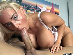 Slutty Jordan Pryce likes shaking her huge boobs while having huge cock fucking her hard