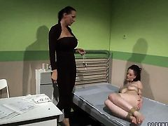 Brunette Gina Lorenzza and Mandy Bright fulfill their sexual needs together in girl-on-girl action
