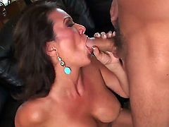 Alex Gonz stretches cute Raquel Devines mouth with his beefy love stick to the limit
