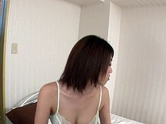 Sex greedy daddy visits a sizzling Japanese prostitute. She puts a lip gloss in front of him what turns him on in a sec before she starts sucking his sturdy cock.