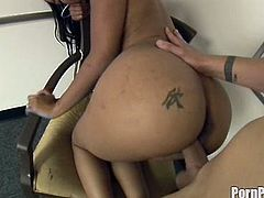 Kapri Styles receives white cock drilling her round ass in amazing doggy style porn