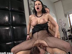 These gaping sluts love going ass to mouth on Rocco's stiff cock. They love ass to mouth and cum swapping.