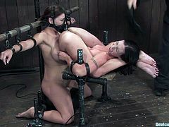 Get a load of this hot bondage video where these hotties have a great time pleasing one another while being tied up and tortured in this bondage scene.