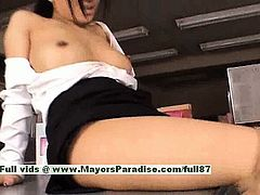 Sora Aoi hot girl naughty Chinese secretary enjoys getting nipples licked