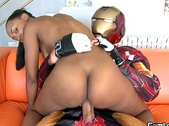 Latina loves fucking with guy in costume during nasty RPG hardcore scene