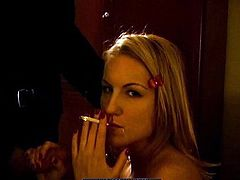 She feels amazing when smoking with a huge cock slding her sweet mouth