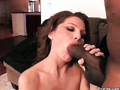 Rae Rodgers gets hammered to orgasm by horny dude in interracial action