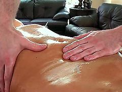 Nikki Sexx loves to get a massage in which she can get fully served. She really gets the full service by this hard guy. He rubs her body all over and takes it out for a nice oral.