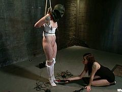 Sloane Soleil gets her holes destroyed with toys in stunning BDSM vid