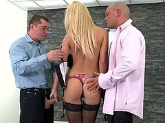 21 Sextury threesome xxx clip will make you jizz tonight. Wondrous blond head is a great pro in giving a solid blowjob. This cum addicted gal with small tits and slender body never minds getting her wet cunt drilled mish as tough as possible.