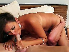 Johnny Sins whips out his meat pole to fuck Allie Haze
