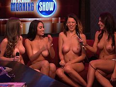 Chelsey, Heather and Megan, they are our favorites contestants! It's double d day at morning show! These beauties have some very nice tits and they show them. Yeah there's a lot of D's right there and boy that's fucking hot! Where do they find these hot girls? Well, who care, let's enjoy the morning show!