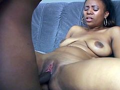 You've got nowhere to go if you want to enjoy so don't blink with this thick black cock inside wet ebony cunt.