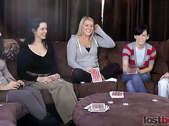 See Zayda, lucretia, ashley, elise, and natalia setting a hot lesbian party in this amazing video. They definitely love sharing their perverse knowledge as they munch and finger their pussies into kingdom come.