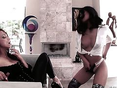 Cindy Starfall is on the edge of nirvana after lesbian sex with Nicki Hunter