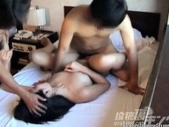 Japanese Cutie Gets Twice The Fun