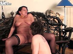 If you're a fan of kinky fat women, then this Fun Movies sex clip is for you. Obese brunette bitch with droopy huge boobs and enormous wrinkled ass stretches her plump legs wide to enjoy cunnilingus and repays with a solid blowjob for sperm right away.