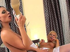 Anetta Keys and Jana are hot lesbians who are all about the legs and feet in this foot fetish video