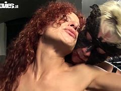 Dude, don't miss a chance to gain delight along with this incredibly hot Fun Movies sex clip. Kinky blondie in mask has a lot of sex toys. Zealous bitch with pale tits wears a strapon for polishing the wet pussy of curvy sexy curly redhead.