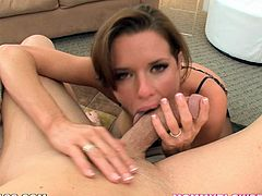 Get a load of this hot POV where this kinky milf shows this guy how good she really is when it comes to sucking dick.