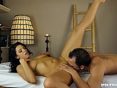 Kira Queen is going to get her perfect body massaged before the hot sex begins. Hear this Spanish babe shouting and moaning as she's fucked.