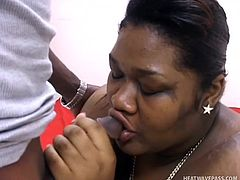 black pregnant fatty gets tits sucked