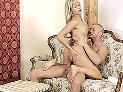 She returned the favor and sucked his cock until it was nice and hard and ready for some action