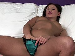 Check out this sweet-ass solo scene featuring this hot brunette chick masturbating her nice pussy till she gets an orgasm!