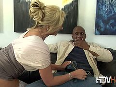 Sexy blonde babe Phoenix loves a good chocolate bar now and again and today she has a nice big one that she lets melt in her mouth then bang her hot pussy.