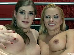 The naughty tranny Tiffany Starr is going to tie Katja Kassin up and then proceed on fucking the blonde bimbo's pussy hard.