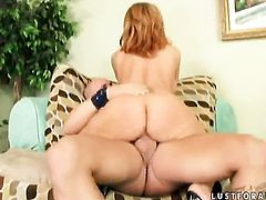 Mature Brooke Haven displays her private parts before she plays with her bottom in solo scene