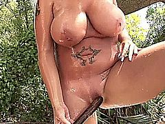Cynthia Flowers - Outdoors Shower