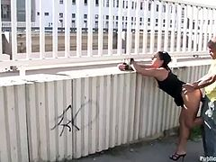 Public sex action with a gorgeous brunette siren Cassie! She gets naked and starts making it out with some passion. Two cocks are not that enough for her anyway!
