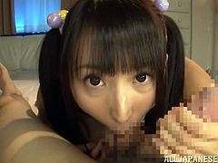 Free Japanese blowjob porn on our free porn website. Yuuki is the name of this cock hungry teen and she loves blowing that cock on camera for POV!